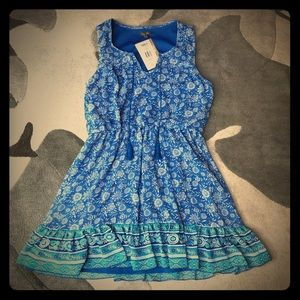 Lily Rose Blue Tassel Dress, NWT, Size L